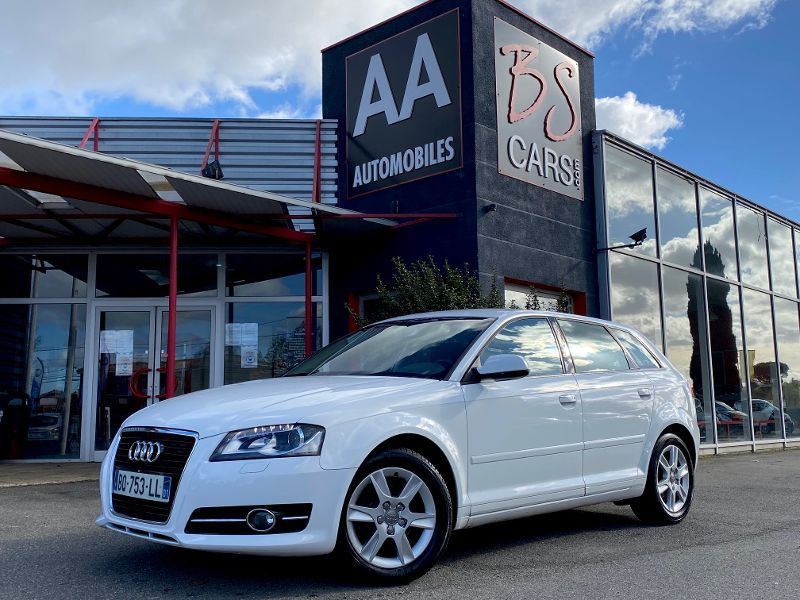 Audi A3 Sportback 1.6 TDI 105 ATTRACTION Essence Blanc Occasion à vendre